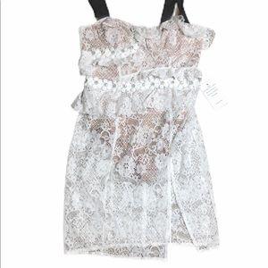 NEW For Love & Lemons lace dress/bodysuit